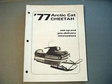 1977 Vintage Arctic Cat Cheetah Dealer Setup Manual