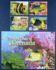 Grenada 2011 Fische Fishes Poissons Pesci 6329-32 + Block 796 Postfrisch MNH