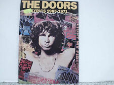 THE DOORS Lyrics 1965-1971 (book-libro)  OMNIBUS PRESS