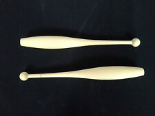 Calisthenics Apparatus Clubs, Unpainted Clubs, Baton twirling, light-weight, NEW