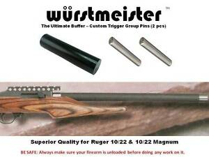 CUSTOM RECOIL BOLT BUFFER + TRIGGER GROUP PINS FOR RUGER 1022 - NEW! - SET OF 2