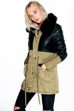 Faux Fur Parka Casual Coats & Jackets for Women