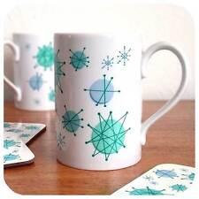 Atomic Starburst Mug, Retro Mug, Mid Century Mug, Retro Gift, Atomic Era