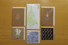 Hand printed Christmas cards - bundle 6 cards