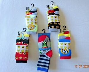 TODDLE BOYS 3 PAIR/PACK MIX CHILDREN ANKLE SOCKS KIDS UK 6-8.5, 3-4 YEARS