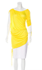 ROBERT RODRIGUEZ Asymmetrical Ruched Top Large