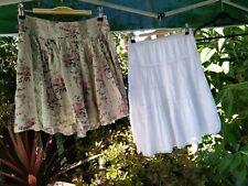 22*   2 Super Cute Pretty Ladies Shorter Skirts Size 8 -10