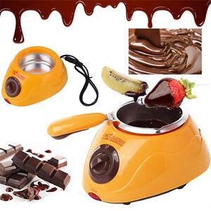 Durable Hot Chocolate Melting Pot Electric Fondue Melter Machine Set DIY Tool