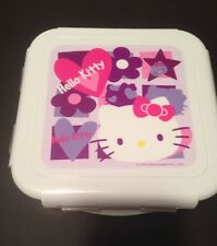 Sanrio Hello Kitty Locking Square Acrylic Storage Case Perfect 4 Lunch 2005 New