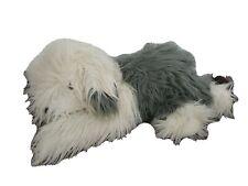 """FAO Schwarz Gray White Sheepdog Large Shaggy 24"""" Plush Dog"""