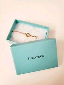 Tiffany & Co. 18k Heart Key Pendent and 18k Necklace Chain