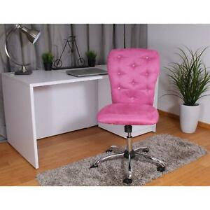 Desk Chair Microfiber w Tilt Tension Control and Dual Wheel Casters Pink Chrome