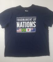 Nike Tee  XXL Short Sleeve Tournament of Nations T-Shirt Blue With Graphics