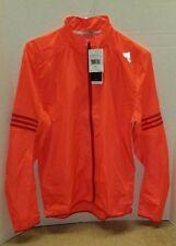 Adidas AX6495 Mens Full Zip Windbreaker Jacket Solar Red Size Medium $60