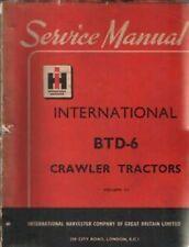 INTERNATIONAL CRAWLER TRACTOR BTD6 WORKSHOP MANUAL - BTD 6