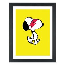 Snoopy As David Bowie Inspired A3 Art Print peanuts dog