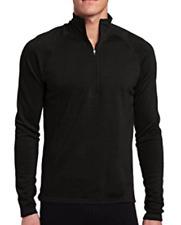Last 3 New with Tag Men Medium M Ibex Shak Half-Zip Jersey Black 100% Merino