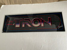 TRON Original BALLY/MIDWAY Arcade Marquee*GLASS*Not a reproduction*Very Rare*