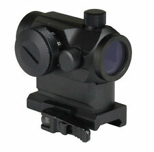 Tactical Mini Micro Reflex Red Dot Scope Sight with QD Quick Riser Mount