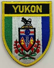 Yukon Flag Shield Crest Patch Embroidered Iron On Sew On Canada