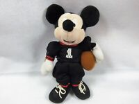 "Disney Mickey Mouse with football Plush Toy 10"" Soft Doll Stuffed"