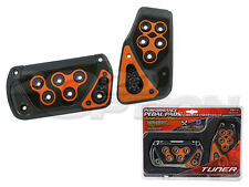 GUNMETAL ORANGE AUTOMATIC BRAKE GAS PEDAL PADS FOR IS250 IS350 FR-S SUPRA TUNDRA