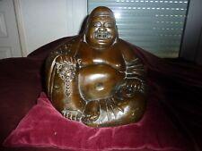 enorme boudha ancien chine bronze 5,5 kg