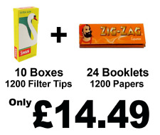 1200 Zig Zag Liquorice Rolling Papers and 1200 Swan Extra Slim Filter Tips