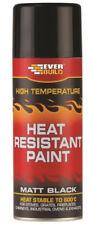 Everbuild Matt Black Wood Burner Stove Exhaust Oven HEAT RESISTANT SPRAY PAINT