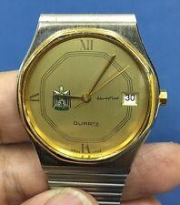 Special ZODIAC  President Saddam Hussein Iraq  Watch Men Watch Rare SS Gold Trim
