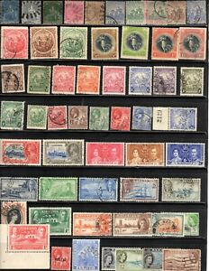 Barbados Collection with Early Classic British Stamps- 4 Scans
