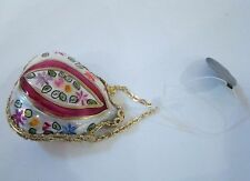 Rochard Limoges  - Mouth-blown Hand-painted Ornament Germany Floral Purse