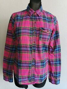Abercrombie & Fitch womens cotton long sleeve check shirt size M