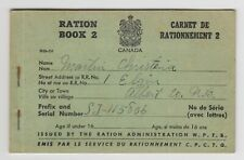 Canada Ww Ii Ration Book 2 Vintage Albert County New Brunswick Wwii