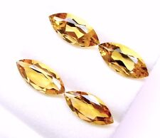 10.89 Cts Tol, Natural Gem Lot 4 Pcs Loose Marquise Yellow Citrine, 15x7x4.8 MM