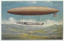 "Zeppelin ""M. Deutsch´s airship"" sign. Oilette Tuck´s post card um 1910"