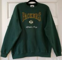 Vtg Green Bay Packers Embroidered Logo Sweatshirt Mens XL Lee Sport USA Made NFL