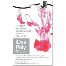 iDye POLY Pink - For Polyester & Nylon Fabrics-  No Mess Packets 14g NEW