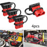 4PCS 50A Car Battery Quick Connect Disconnect Power Cable Connector Plug Set Red