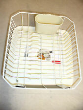 RUBBERMAID SMALL SINK 6008 & 1180 DISH DRAINER AND TRAY BOARD SET BISQUE NEW!