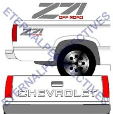 90's CHEVROLET Tailgate Silver Truck Lettering + (2) Z71 Vehicle Vinyl Decal SET