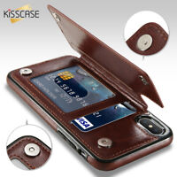 Retro PU Leather Case Multi Card houders Cover For iPhone X 6 6 s 7 8 Plus XS XR
