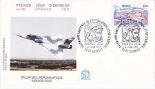 Enveloppe 1er jour FDC n°1221- 1981 - Salon de l'Aéronautique Mirage 2000
