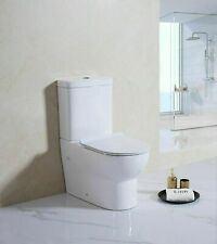Closed Coupled Toilet Back To Wall Bathroom Modern Soft Close Seat Round Eco