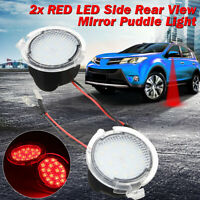 2PCS Red LED Side Rear View Mirror Puddle Light For Ford C-Max Focus Kuga  DYY!