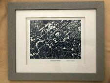 "BOUNDARY WATERS (BWCA) SATELLITE PHOTO PRINT (10"" x 8"") - FRAMED - 16"" x 13"""
