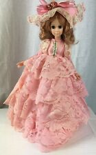 Vintage Collectible Doll 1963 EEGEE Company  Pink Lace Dress Blue Blinking Eyes