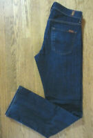 7 FOR ALL MANKIND CARSEN MENS 30X33.5 DARK WASH STRAIGHT LEG STRETCH BLUE JEANS