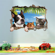 3D Cat Dog Mouse Room Home Decor Removable Wall Sticker Decal Decoration