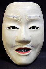 Wooden! Japanese Traditional Noh Mask KANTAN-OTOKO Demon Kagura Kabuki Samurai